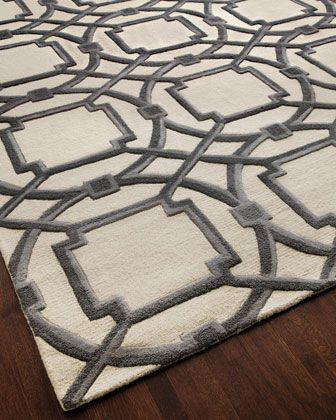 """Gray Abstract"" Rug - Horchow"