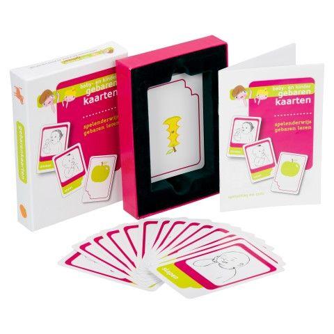 Aanbieding van de maand juni: gebarenkaarten. Leer in een handomdraai 25 gebaren. Onlangs hebben we het spel vernieuwd; nieuwe gebaren en nog duidelijkere tekeningen. Deze maand betaal je slechts €10,- per setje.