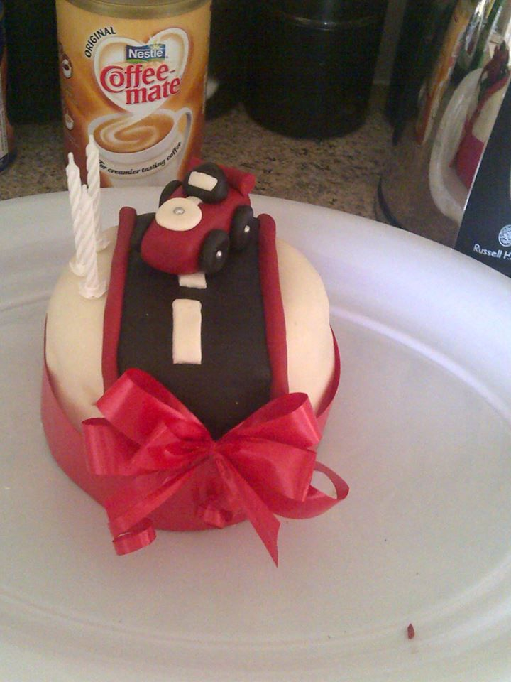 im the 3rd cake ive ever made bit of a disaster with the main icing of the cake lol  practice makes perfect x