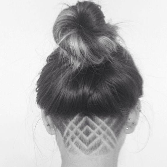 Enjoyable 1000 Ideas About Girl Undercut On Pinterest Undercut Designs Short Hairstyles Gunalazisus