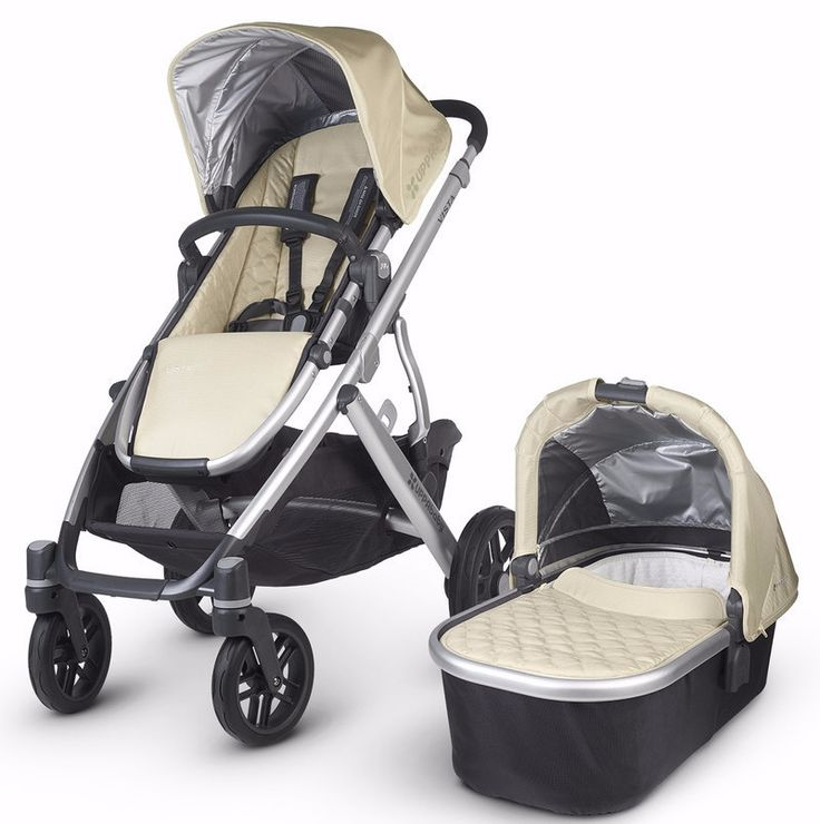 UPPAbaby 2015 VISTA Convertible Stroller Aluminum Silver