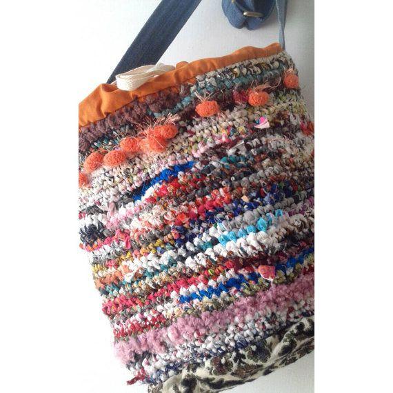 Cubo bolsa de ganchillo / bolso de hombro por JaneCohenArtfulBags