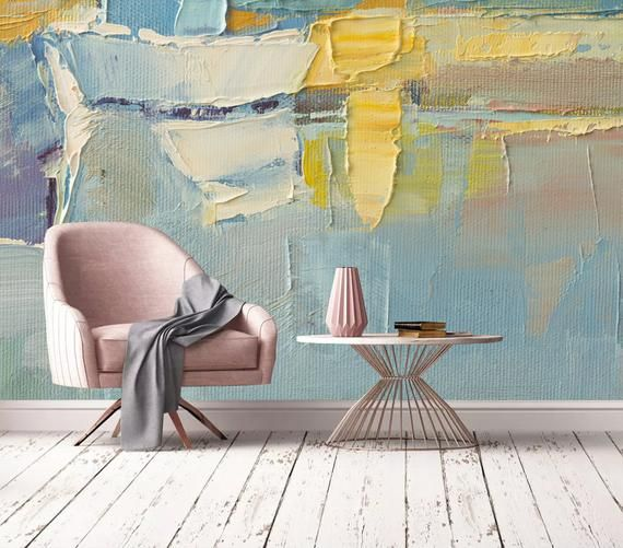 Hand Drawn Paint Abstract Wall Mural Removable Wallpaper Etsy In 2020 Wall Murals Mural Wallpaper Removable Wallpaper