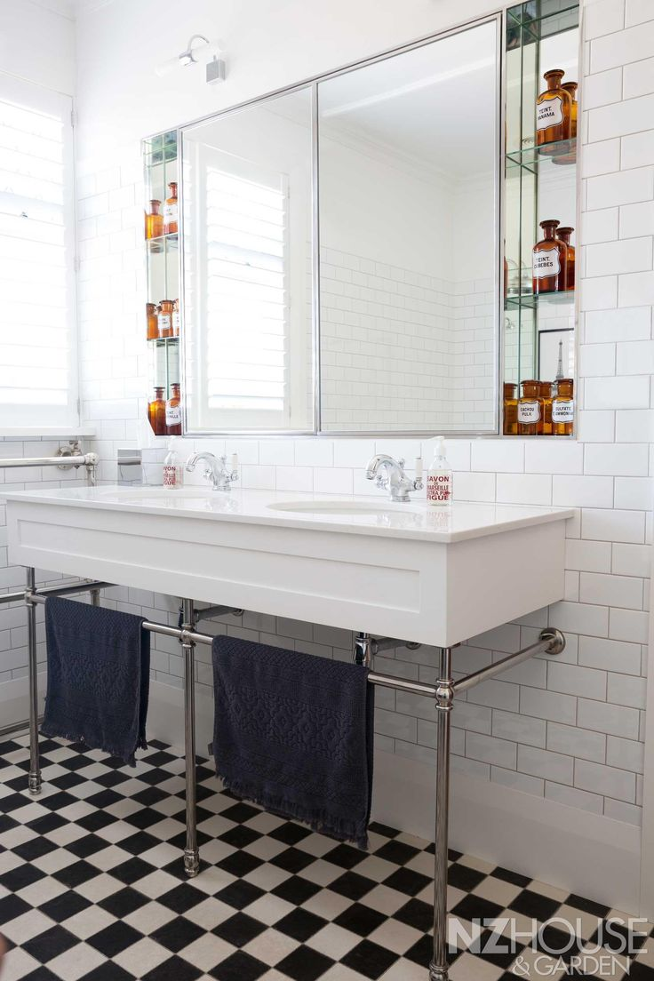 Rebecca designed the sink to complement the original decor and it was built by Prestige Joinery; the bathroom fittings are by Perrin & Rowe.