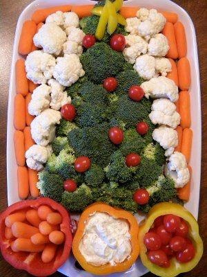 Healthy foods for the party tray