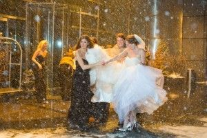 cool mariage neigeux