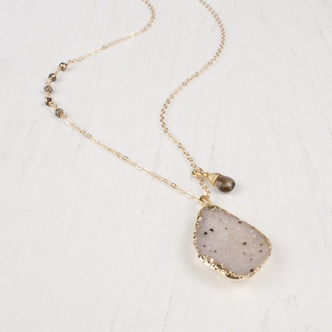 golden drusy necklace by Sarah Lewis  $198