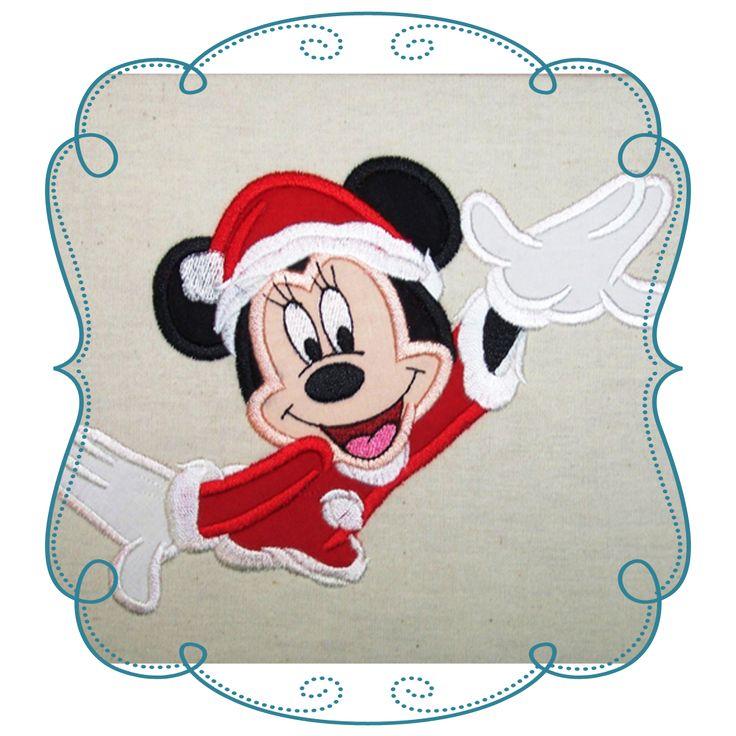 Minnie Mouse Christmas Applique Design-INSTANT DOWNLOAD