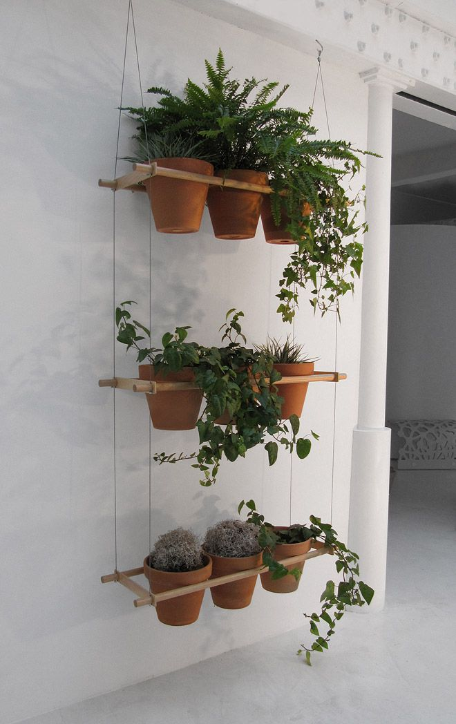 Sweet hanging planter using bamboo