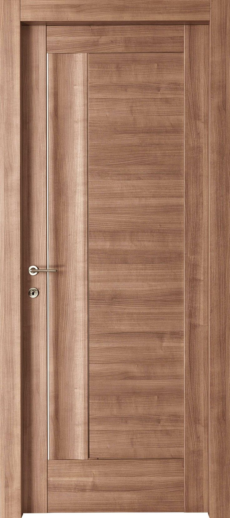Doors furniture 6 panel solid wood door for Modern main door design