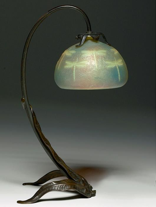 Dragonflies   Dragonfly   Art Nouveau bronze and glass lamp   By: Louis Majorelle and Daum, France   circa 1900.