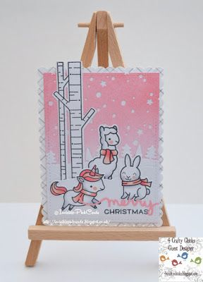 InvisiblePinkCards: Handmade Christmas Card using Lawn Fawn stamps and dies