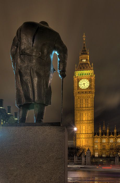 Churchill overlooking Westminster - (c) Solar Worlds Photography