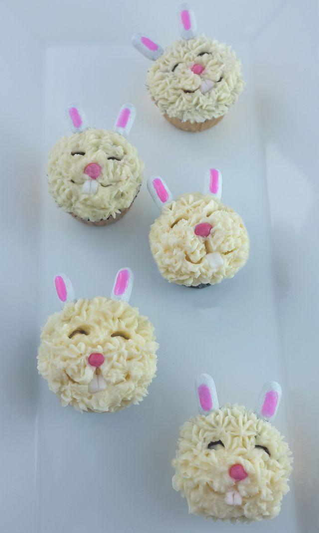 bunny cupcakes - they look so happy!