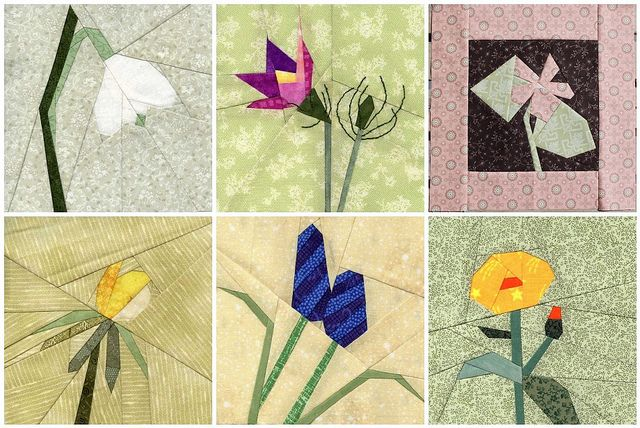 flower paper piece quilting free pattern | Foundation Paper Pieced Flowers | Flickr - Photo Sharing!
