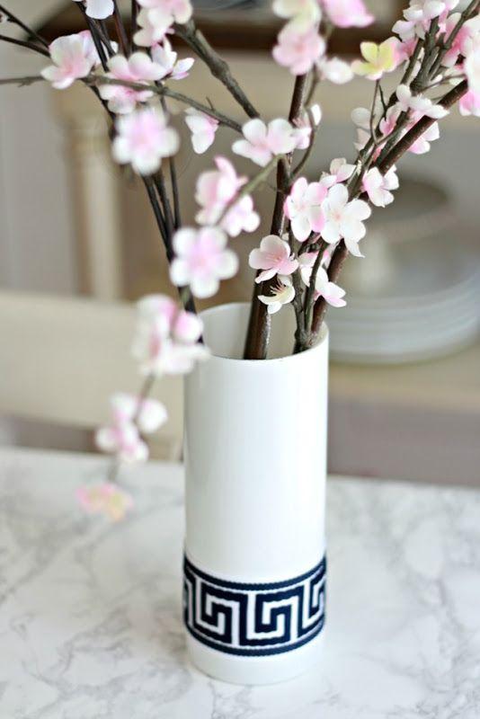 DIY Greek Key Vase