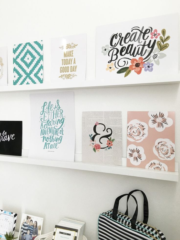 a gallery wall created using the 'Savannah' DIY Gallery Art Pad in the craftroom of mambi Design Team member Thuy Bui | me & my BIG ideas