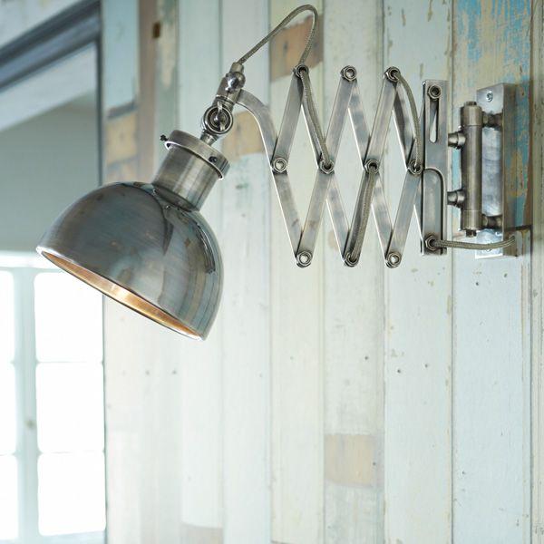 シザーアーム・ウォールランプ/シルバー | ランプ ラボ,ウォールランプ | Orne de Feuilles