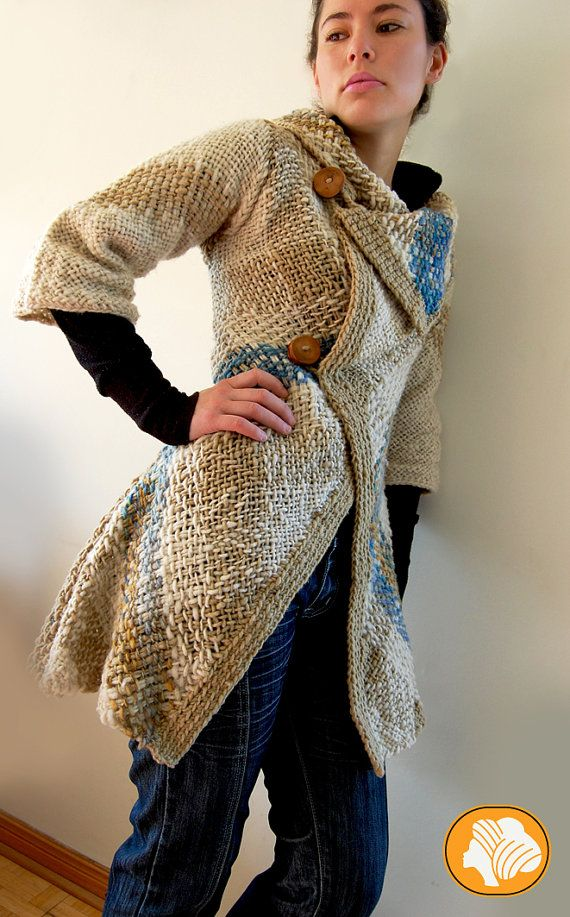 Flecked woolen unique design coat by Ullvuna on Etsy