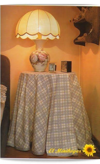 Las 25 mejores ideas sobre faldas de mesa en pinterest y - Mesas camillas redondas ...