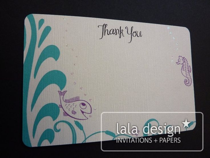 Fish thank you card