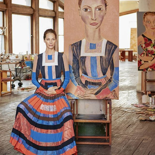 There's fabulous at every age, and then there's super. In collaboration with famed portraitist #FrancescoClemente, the world's greatest beauties like @CTurlington, @AnnaEwers, & @The Real Iman, become works of art in our April 2016 issue. Go to the link in our bio to see the feature by @LauraBrown99, photos by #JasonSchmidt. #swag #fashion #model #followback #glam