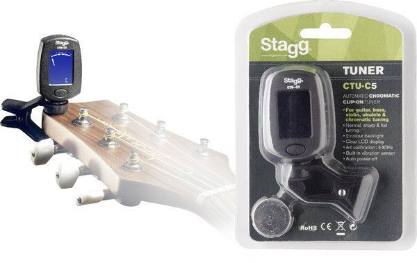 Stagg Clip On Chromatic Tuner for Guitar, Bass, Violin & Ukulele