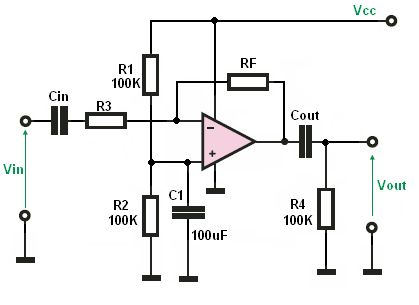 PreAmplifier circuit is an electronic amplifier that