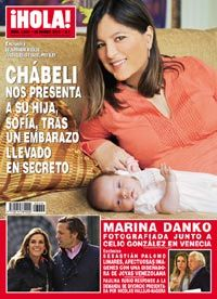 Esta semana en ¡HOLA!: Chábeli Iglesias nos presenta a su hija, Sofía, tras un embarazo llevado en secreto
