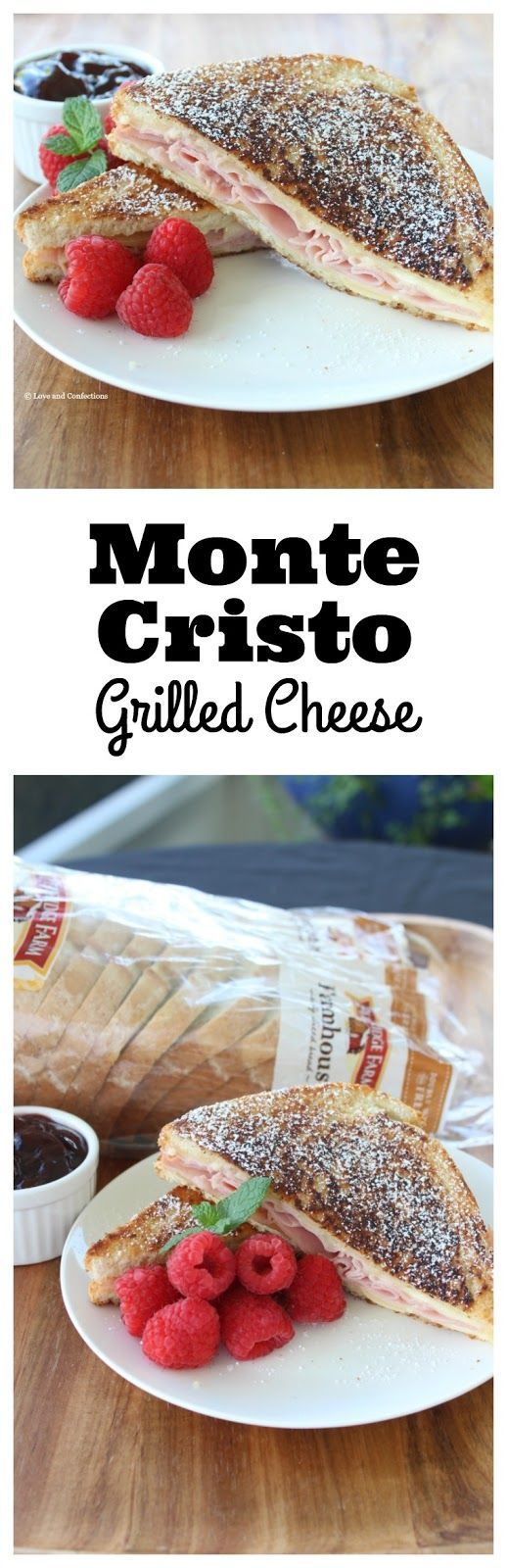 Monte Cristo Grilled Cheese from http://LoveandConfections.com #SandwichWithTheBest AD /pepperidgefarm/