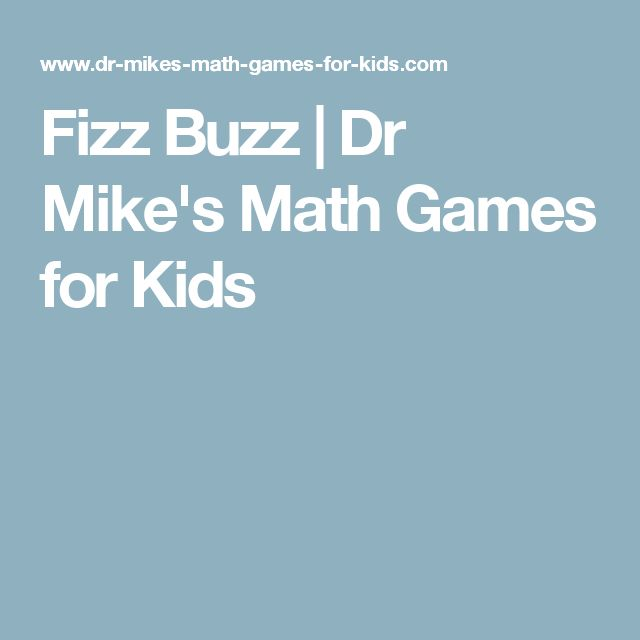 Fizz Buzz | Dr Mike's Math Games for Kids