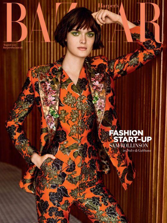Hair Stylist Kacper Rączkowski - Cover story for Harper's Bazaar Germany, portrait of Sam Rollinson, June 2017.