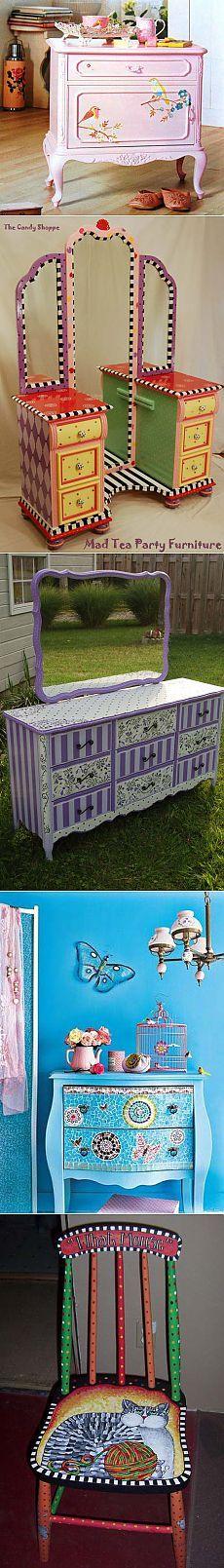 Живи красиво! - блог о дизайне и декоре: весёлая расписная мебель
