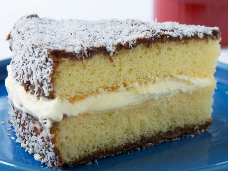 Unique Lamington sponge cake