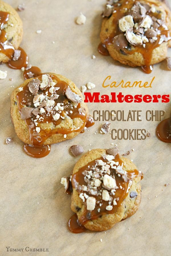 Caramel Maltesers Chocolate Chip Cookies