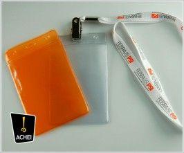 porta crachá ou credencial - 07,0 X 11,0 cm.