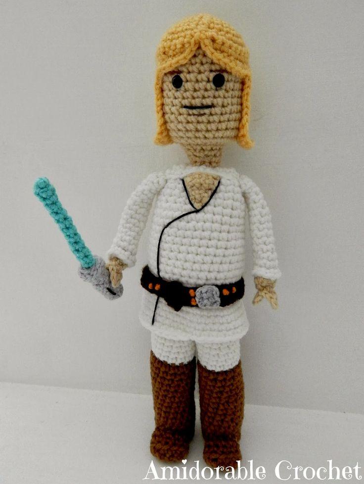 Amigurumi Lego Man : free pattern : Luke Skywalker Lego Man Pattern by