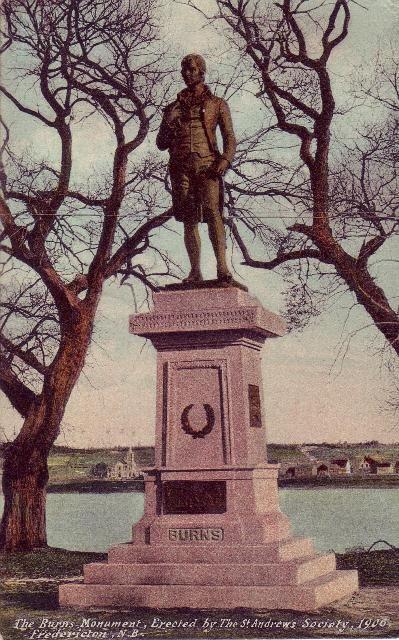 Robert Burns statue in Fredericton.