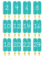 Great idea for helping kids visualize counting by 2's.