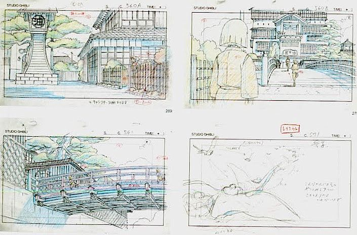 Film: Spirited Away (千と千尋の神隠し) ===== Layout Design - Scene: Don't Come Here Without Me ===== Hayao Miyazaki