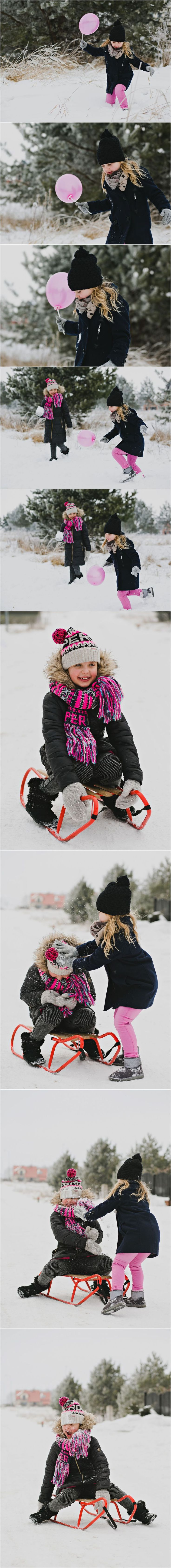 Zimowa sesja rodzinna, Fotograf Ełk, Sesja rodzinna Ełk,