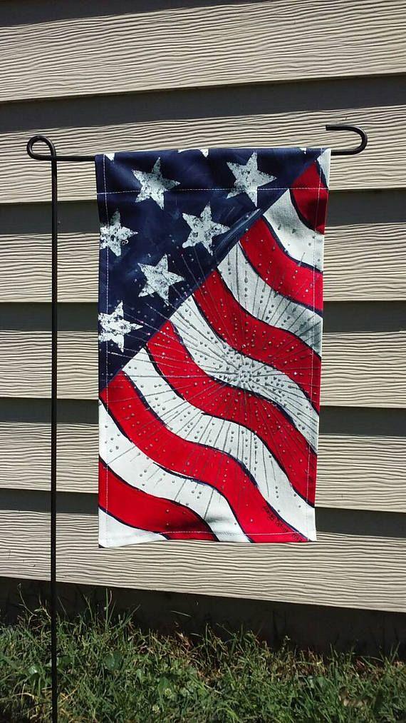 American Flag Garden Flag Etsy In 2020 Burlap Garden Flags Metal Flag Garden Flags