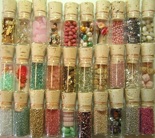 I love glitter and beads and sparkly things.