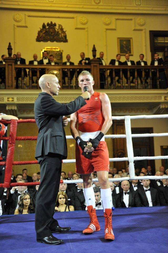 Australian amateur champion and London Olympian, Jessie Ross at the 9th annual Black Tie Boxing night at the Tattersal's Club in Brisbane. What a fantastic venue.