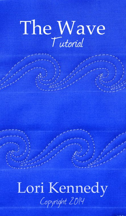 Free Motion Quilt Tutorial-The Wave Lori Kennedy The Inbox Jaunt