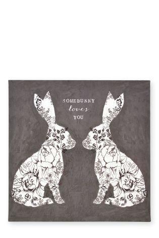 Mirror Bunnies Print On Canvas