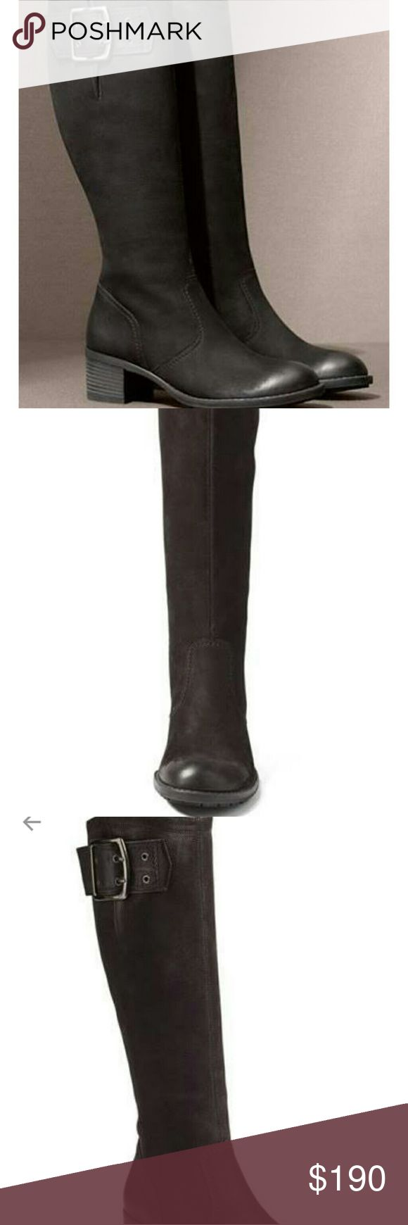 """🐰🐰SALE! Paul Green Kendra Knee High Buckle Boot Paul Green Kendra Knee high Boot Black nubuk leather Quartz nubuk leather Block heel approx 2"""" Zipper side closure Adjustable buckle (last pic) Like new condition Paul Green Shoes"""