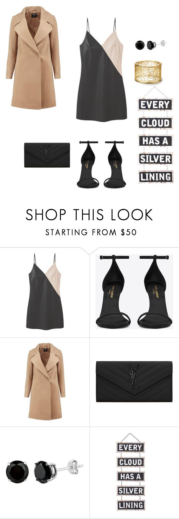 """Untitled #252"" by natalyholly on Polyvore featuring MANGO, Yves Saint Laurent, Boohoo and Silver Lining"