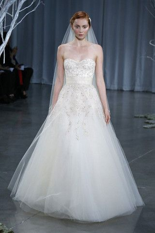 Another Monique #Lhuillier Creme Brulee #Wedding #Dress - Nearly Newlywed Wedding Dress Shop.