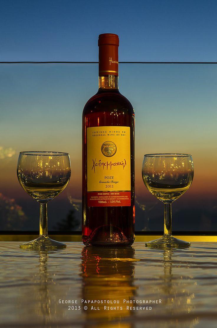 2 glasses of Sunset, Kos, Greece